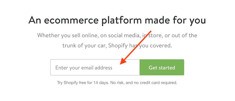 Start Shopify Trial