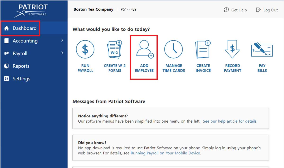 patriot software mudah untuk menambah karyawan